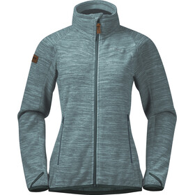 Bergans Hareid NoHood Chaqueta Polar Mujer, forest frost melange